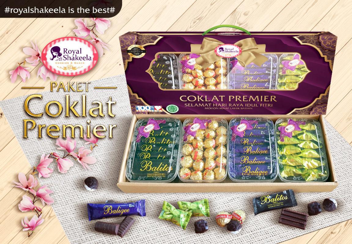 Paket Kue kering Lebaran Coklat Premier